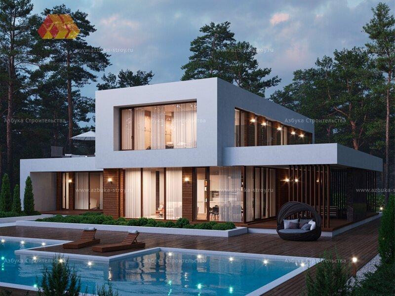 Проект: Дом с панорамным остеклением