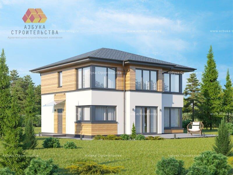 Проект современного дома в Павловске