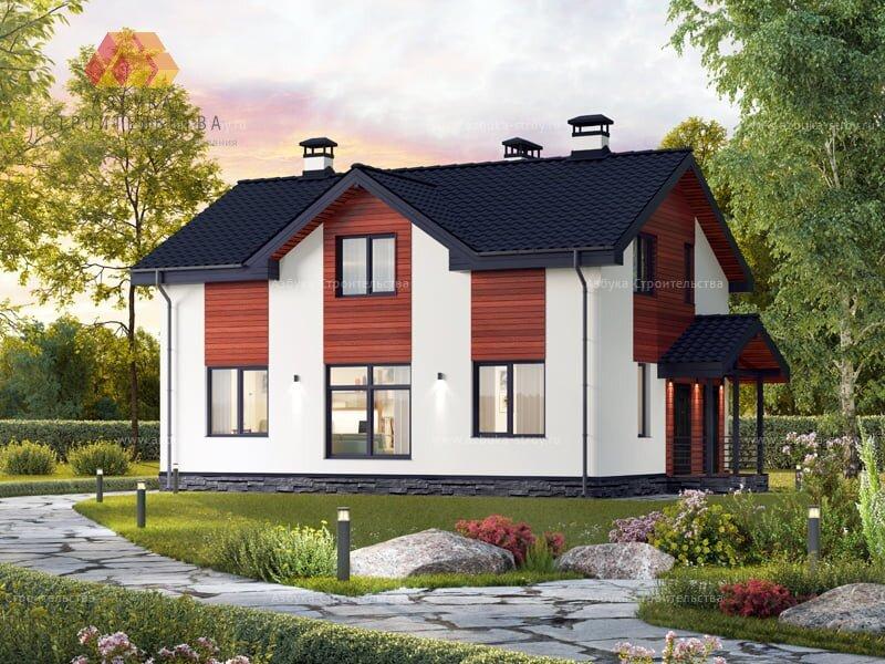 Проект Загородного дома - компактный и не сложный в строительстве